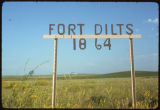 Sign at Fort Dilts, N.D.