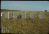 Tombstones at Fort Dilts, North Dakota