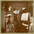 Fred A. Bristol and Mary Bristol Stranahan playing music, Fargo, N.D.