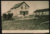 Elsworth, N.Dak. post office, store, and town hall, about 1918