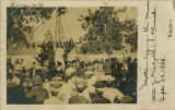Laying the cornerstone of 1st Presbyterian Church, Fargo, N.D., Sept. 29, 1906