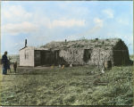 Anders Hultstrand sod house, Soper Post Office, Dakota Territory, 1897.