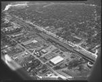 Aerial over 1st Avenue N., Fargo, N.D.