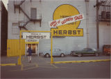 Back entrance advertising Going Out Of Business Sale, Herbst Department Store, Fargo, N.D.